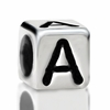 Metallized Plastic Letter A Bead 7mm