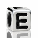 Metallized Plastic Letter E Bead 7mm