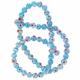 Blue Glass Millefiori 6mm Round Beads 16-Inch Strand