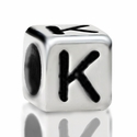 Metallized Plastic Letter K Bead 7mm