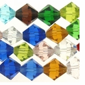 Chinese 10mm Assorted Crystal Bicones 16in Strand