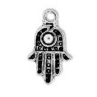 Antiqued Silver 20mm Hamsa Hand Charms (10PK)