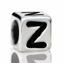 Metallized Plastic Letter Z Bead 7mm