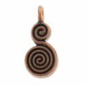 Antiqued Copper Spiral 17mm Calabash Charm (1PC)