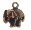 Antiqued Copper Elephant Charm (5PK)