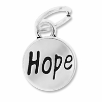 Antiqued Silver 11mm Hope Charm (10PK)