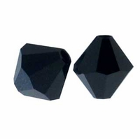 Jet 5328 8mm Swarovski Crystal XILION Bicones Beads (1PC)
