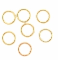 Gold Plated Brass 7mm Closed Round Jump Rings (25PK)