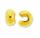 Gold Plated 4mm Crimp Cover (100PK)
