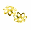 Gold Plated 6mm Filigree Bead Cap (100PK)