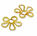 Gold Plated 9mm Flower Bead Cap (10PK)