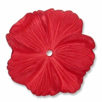LUCITE 18MM TEXTURED FLOWER CRANBERRY (1PC)