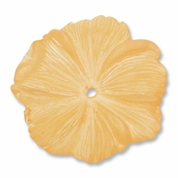 LUCITE 18MM TEXTURED FLOWER ORANGE (1PC)