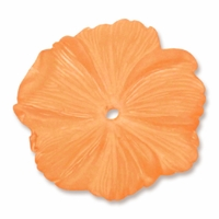 LUCITE 18MM TEXTURED FLOWER PAPRIKA (1PC)