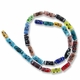 Mixed Tube 17 x 8mm Lampwork Bead (1 Strand)