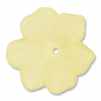 LUCITE 18MM FLOWER YELLOW (1PC)