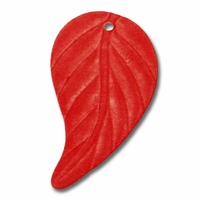 LUCITE 22X13MM LEAF CRANBERRY (1PC)