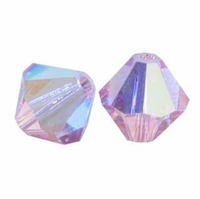 Light Rose AB 5328 4mm Swarovski Crystal XILION Bicones Beads (10PK)