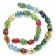 Mixed Oval 15mm Lampwork Glass Beads (1 Strand)