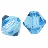 Aquamarine 5328 10mm Swarovski Crystal XILION Bicones Beads (1PC)