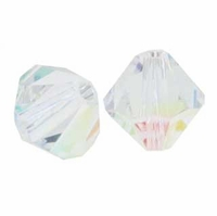 Crystal AB 5328 10mm Swarovski Crystal XILION Bicone Beads (1PC)