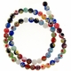 6mm Millefiori Round Mixed Color Beads 1 Strand