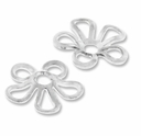 Silver Plated Brass 9mm Flower Bead Cap (20PK)