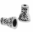 Antiqued Silver 10mm Ornate Spiral Cone Beads (10PK)