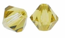 Lime 5328 6mm Swarovski Crystal XILION Bicones Beads (10PK)