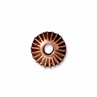 6mm Antiqued Copper Crown  Heishi  Spacers (10PK)