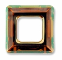 20mm Swarovski Square Ring 4439 Crystal Copper Cal V SI