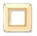 20mm Swarovski Square Ring 4439 Crystal Golden Shadow