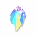 Swarovski 6735 Leaf Crystal Pendants Crystal AB 26x16mm