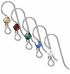 Sterling Silver Earwire with Swarovski Crystal Beads