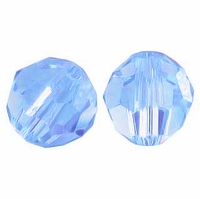 Majestic Crystal® Light Sapphire 8mm Faceted Round Crystal Beads (24PK)