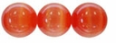 Red/Orange 4mm Cats Eye Glass Beads 16 Inch Strand