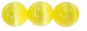 Yellow 4mm Cats Eye Glass Beads 16 Inch Strand