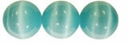 Turquoise 4mm Cats Eye Glass Beads 16 Inch Strand