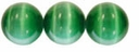 Green 6mm Cats Eye Glass Beads 16 Inch Strand