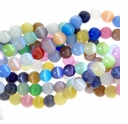 Mixed Cat Eye Glass Round 6mm Beads