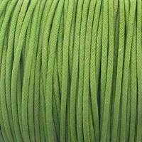 Lt. Green 1.5mm Waxed Cotton Craft Cord (1YD)