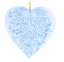 26mm Silver Foil Heart Pendant Aquamarine w/ Gold Finding (1pc)