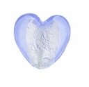 Silver Foil Glass Lt. Sapphire Small Heart Beads 15x15mm (5PK)