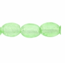 Silver Foil Glass Lt. Green Oval Beads 10x14mm (5PK)