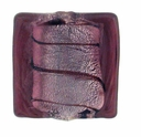 Silver Foil Glass Amethyst Square Beads 15x15mm (5PK)