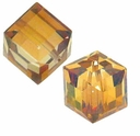 Crystal Copper 5601 Swarovski 8mm Cube Bead (1 cube)