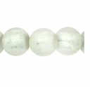 Silver Foil Glass Crystal Round Beads 10mm (10PK)