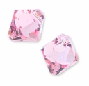 Lt. Rose Swarovski 6301 Bicone 6mm Pendants (10PK)