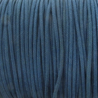 Navy Blue 1.5mm Waxed Cotton Craft Cord (1YD)