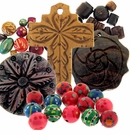 Wood Beads and Pendants